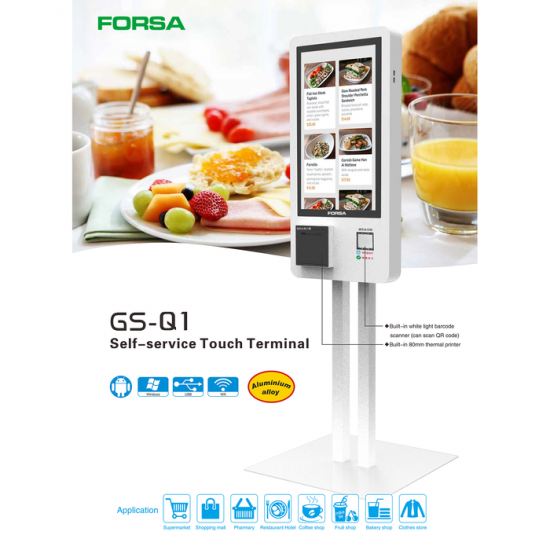 "Forsa Self-service Touch Terminal POS Kiosk GS-Q1 21.5"" Touch Screen"